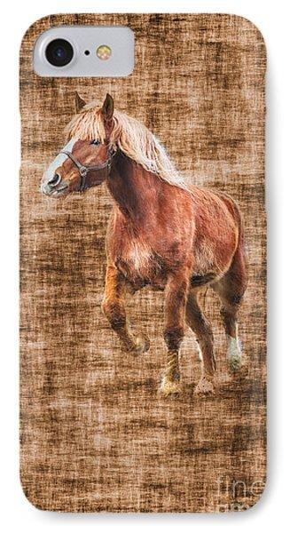 Horse Running Phone Case by Dan Friend