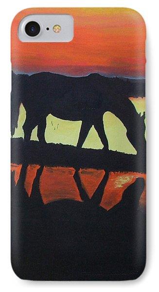 Horse Shadows Phone Case by Mark Fluharty