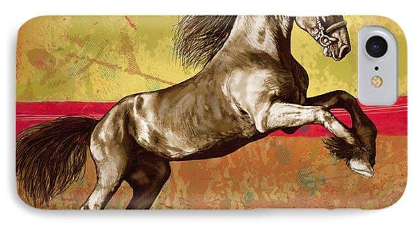 Horse Stylised Pop Art Drawing Potrait Poser IPhone Case
