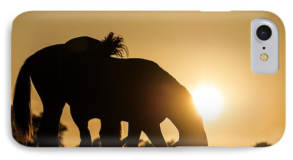 Horse Sunset IPhone Case by Michael Mogensen