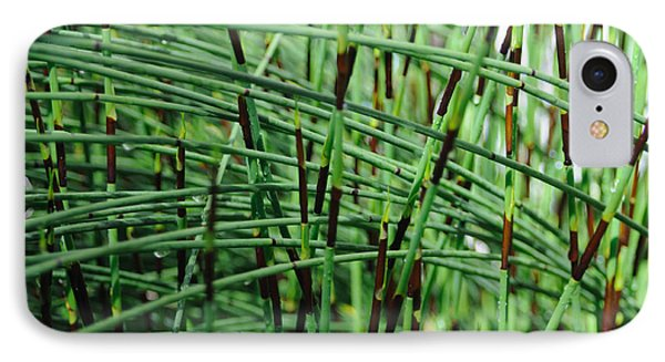 IPhone Case featuring the photograph Horse Tail Zen Garden by Haleh Mahbod