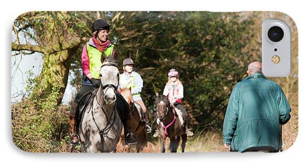 Horse Trekking And Walking IPhone Case