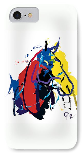 Horse- Zam Phone Case by Go Van Kampen