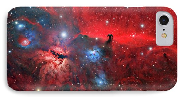 Horsehead And Flame Nebulae IPhone Case by Tony & Daphne Hallas