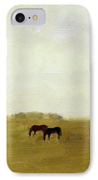 Horses Afield IPhone Case by J Reifsnyder
