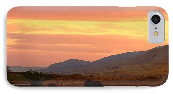 IPhone Case featuring the photograph Horses At Sunrise by Lynn Hopwood