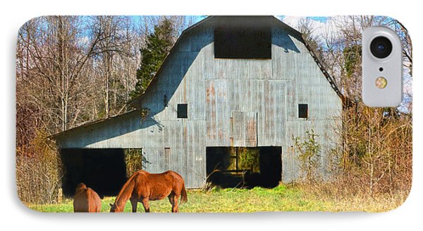Horses Call This Old Barn Home Phone Case by Sandi OReilly