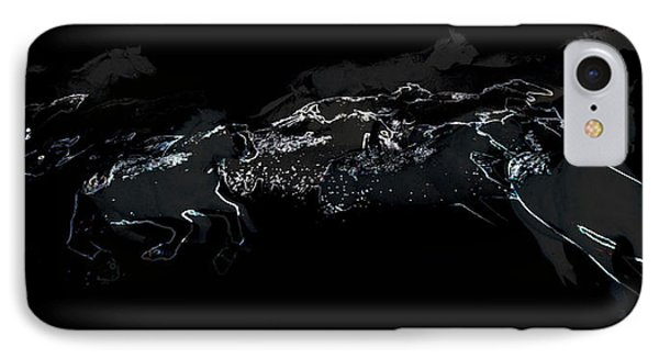 IPhone Case featuring the photograph Horses - Cavalli by Ze  Di