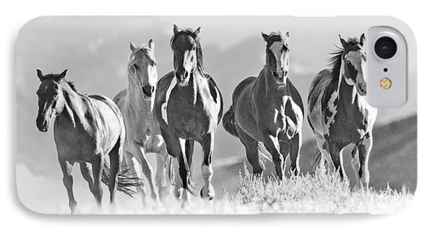 Horses Crest The Hill Phone Case by Carol Walker