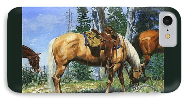 Palomino At Lunch Break IPhone Case
