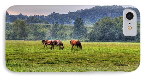 Horses In A Field 2 IPhone Case by Jonny D