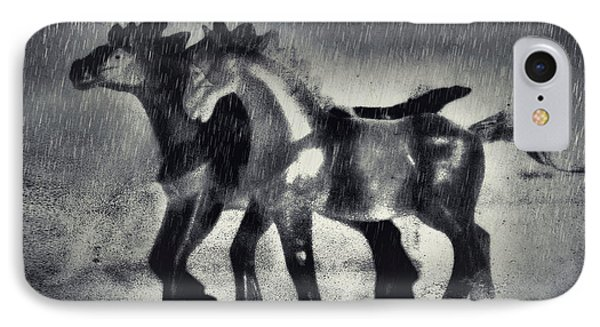 Horses In Twilight IPhone Case by Jeff  Gettis