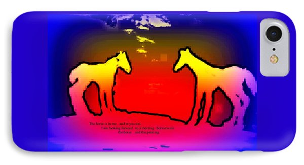 Feel The Horses Inside Of Us And The Space Outside  IPhone Case