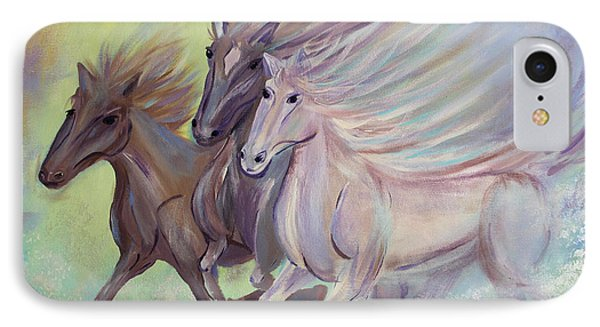 IPhone Case featuring the painting Horses Of The Sea by Stacey Zimmerman