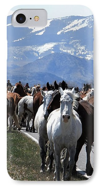 Horses On Road IPhone Case