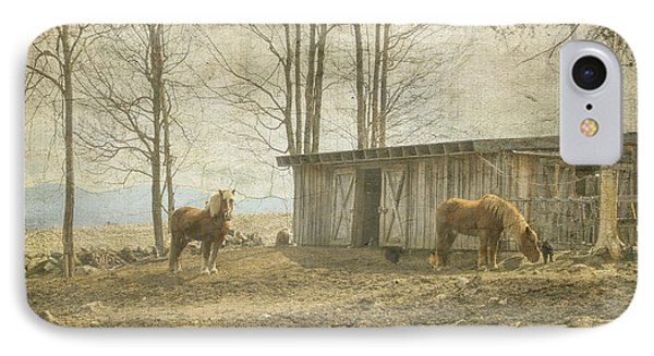 Horses On The Farm IPhone Case by Betty  Pauwels