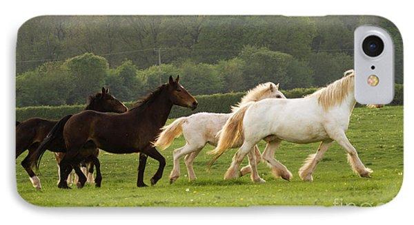 Horses On The Meadow Phone Case by Angel  Tarantella