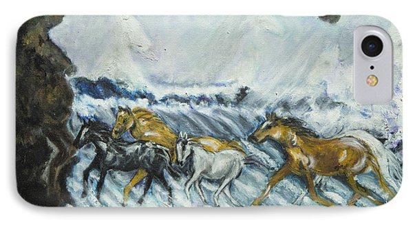 Horses Running IPhone Case