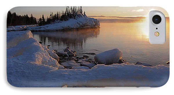 Horseshoe Bay Island Sunrise At Minus 20 Phone Case by Sandra Updyke