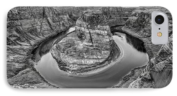 Horseshoe Bend Arizona Black And White IPhone Case