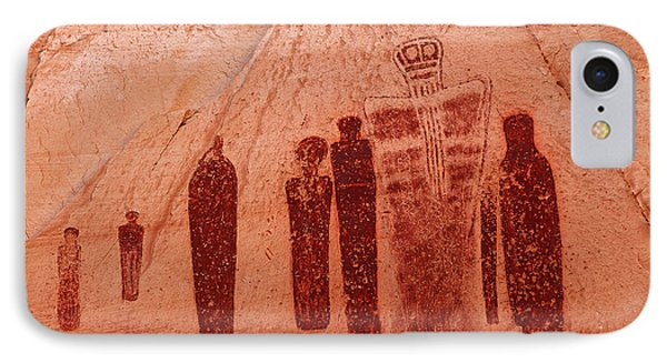 Horseshoe Canyon Pictographs IPhone Case by Alan Vance Ley