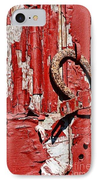 Horseshoe Door Handle IPhone Case by Paul Ward