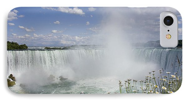 Horseshoe Falls With Maid Of The Mist Phone Case by Peter Mintz