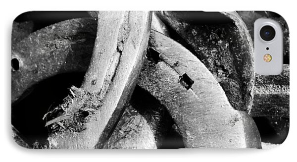 Horseshoes Black And White IPhone Case by Matthias Hauser