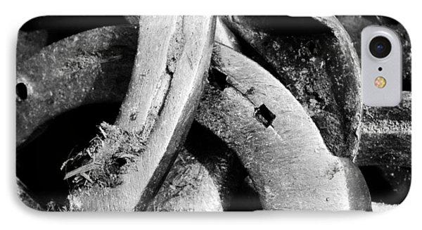 Horseshoes Black And White IPhone Case