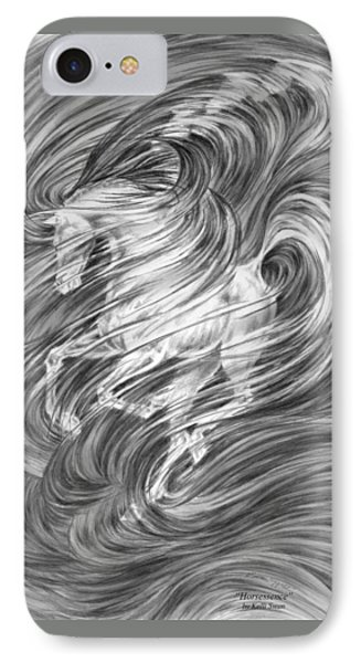 IPhone Case featuring the drawing Horsessence - Fantasy Dream Horse Print by Kelli Swan
