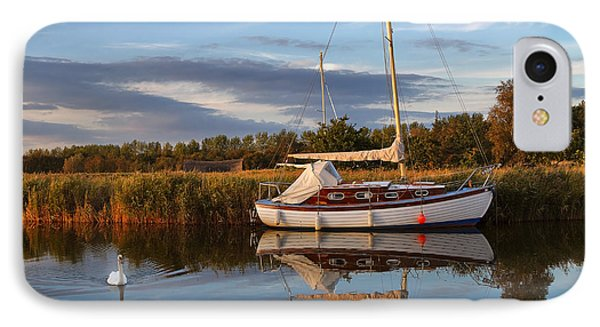 Horsey Mere In Evening Light Phone Case by Louise Heusinkveld