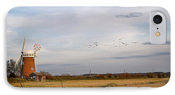 Horsey Windmill In Autumn Phone Case by Louise Heusinkveld