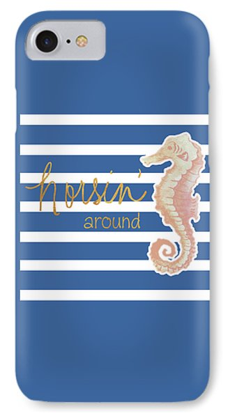 Horsin' Around IPhone Case by Elizabeth Medley
