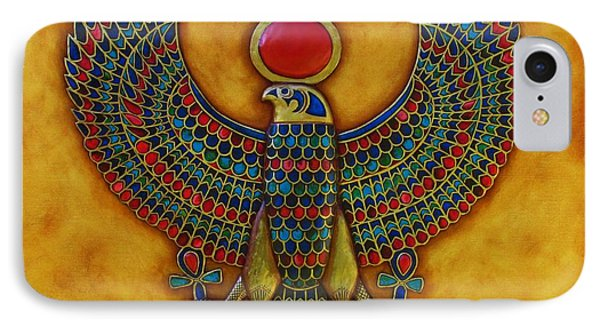 IPhone Case featuring the mixed media Horus by Joseph Sonday