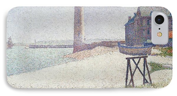 Hospice And Lighthouse At Honfleur IPhone Case by Georges Seurat