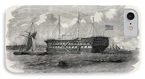 Hospital Ship Near The Seraglio At Constantinople Istanbul IPhone Case by English School