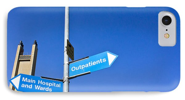Hospital Signs Phone Case by Tom Gowanlock