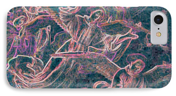 IPhone Case featuring the digital art Host Of Angels Pink by First Star Art
