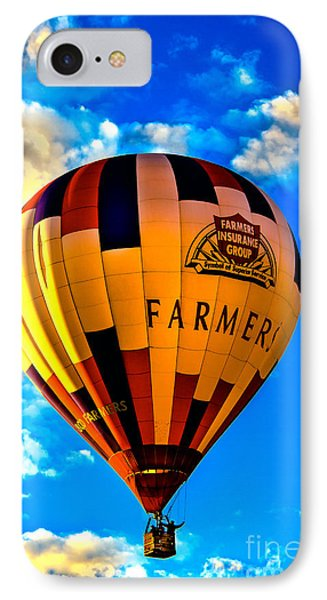 Hot Air Ballon Farmer's Insurance IPhone Case by Robert Bales