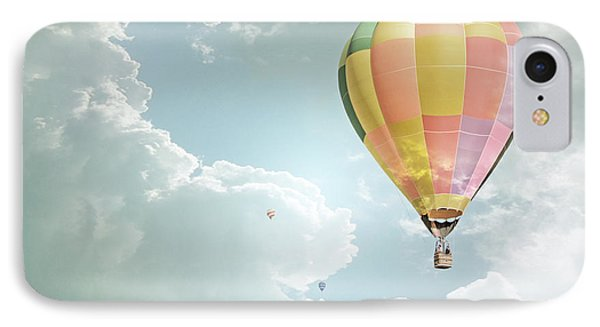 Hot Air Balloon Enchanted Clouds IPhone Case by Andrea Hazel Ihlefeld