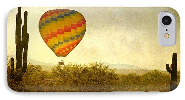 Hot Air Balloon Flight Over The Southwest Desert Fine Art Print  Phone Case by James BO  Insogna