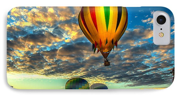 Hot Air Balloon Lift Off IPhone Case by Robert Bales