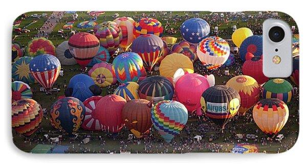 Hot Air Balloon Mass Ascent IPhone Case by Peter Menzel