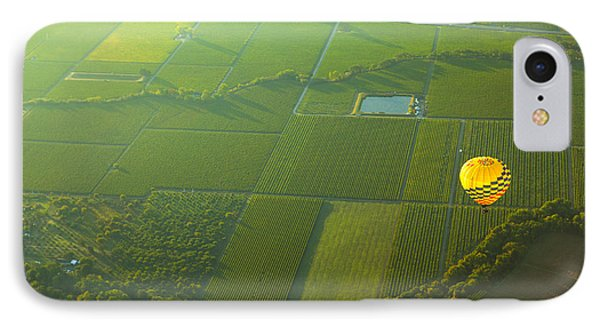 Hot Air Balloon Over Napa Valley California Phone Case by Diane Diederich