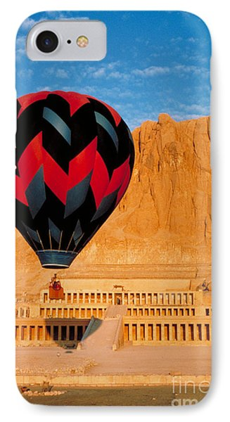 Hot Air Balloon Over Thebes Temple Phone Case by John G Ross