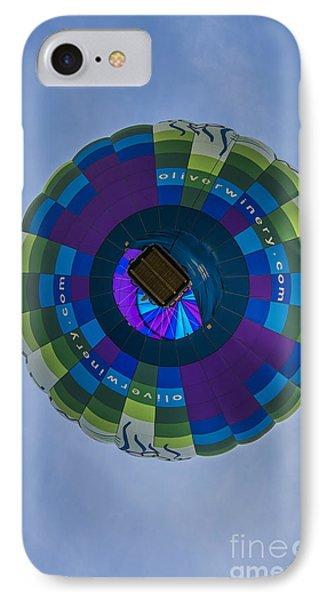 Hot Air Balloon Ow 2 IPhone Case by David Haskett