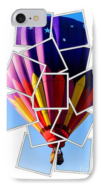Hot Air Balloon Polaroid IPhone Case by Edward Fielding