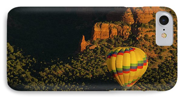 Hot Air Balloon, Red Rock, Coconino IPhone Case by Michel Hersen