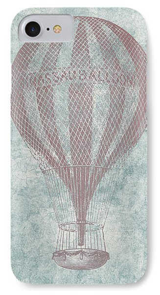 Hot Air Balloon - Vintage Drawing IPhone Case
