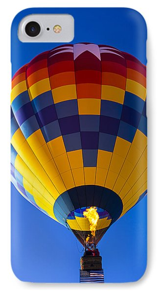 Hot Air Balloon With American Flag IPhone Case by Garry Gay